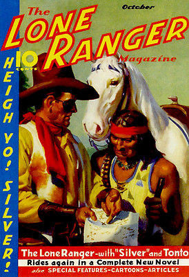 The Lone Ranger - October 1937 - Magazine Cover Poster