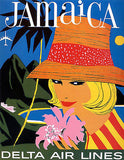 1960's Jamaica - Delta Air Lines - Travel Advertising Poster