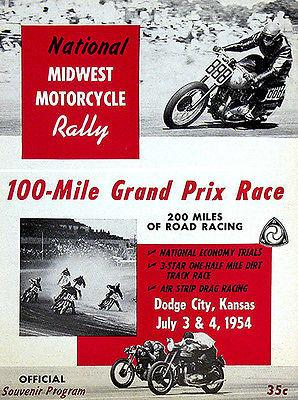 1954 National Midwest Motorcycle Rally - Promotional Advertising Magnet