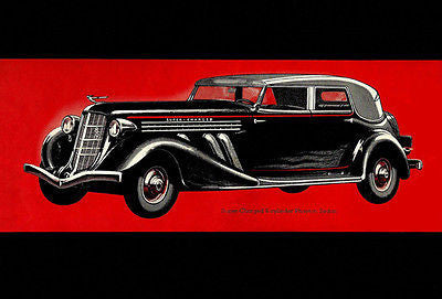 1935 Super Charged Auburn Phaeton Sedan - Promotional Advertising Poster