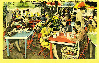 The Original Farmers Market - Hollywood - Vintage Postcard Poster