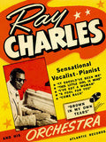 1950's - Ray Charles - Concert Poster