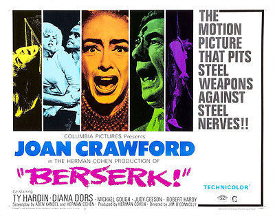 Berserk! - 1967 - Movie Poster