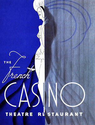 The French Casino Theatre Restaurant - 1939 - New York - Promotional Poster