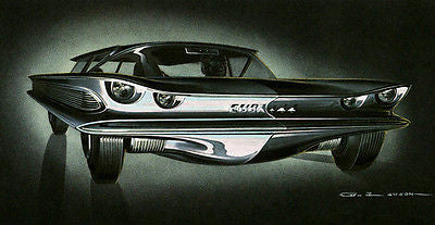 1959 AMC Cuda +44 Concept Car - Promotional Advertising Poster