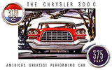 1957 Chrysler 300 C - Promotional Advertising Poster