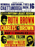 Ruth Brown - Ray Charles - Muddy Waters - Chattanooga - 1954 - Concert Poster Mug