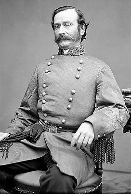 Maj General Mansfield Lovell - Confederate Army 1861 - Civil War Portrait Poster