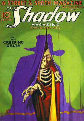 The Shadow - January 1933 - Magazine Cover Magnet