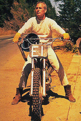 Paul Newman on Motorcycle - Photo Poster