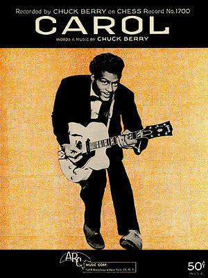 Chuck Berry - Carol - Sheet Music Cover Poster