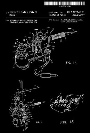2007 - Roto-Tech - Rotary Tattoo Machine - R. Daigle - Patent Art Magnet