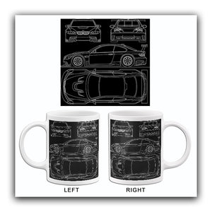 2009 BMW-M3-GTR - Blueprint Mug