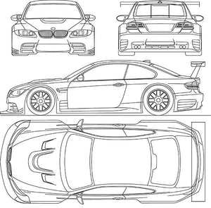 2009 BMW-M3-GTR - Blueprint Magnet