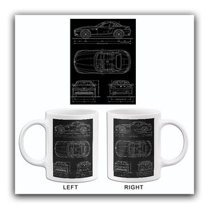 2010 BMW Z4 - Blueprint Mug