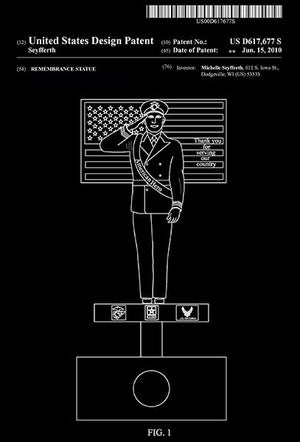2010 - American Hero Remembrance Statue - M. Seyfferth - Patent Art Magnet