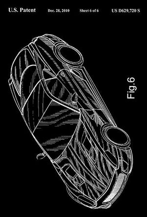 2010 - Ferrari Toy Car Replica - F. Manzoni - Patent Art Magnet
