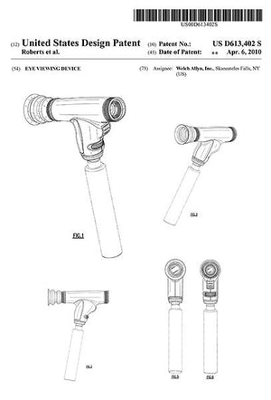 2010 - Ophthalmoscope - Eye Viewing Device - Eye Clinic - Optometrist - C. R. Roberts - Patent Art Magnet