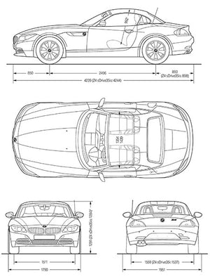 2010 BMW Z4 - Blueprint Poster