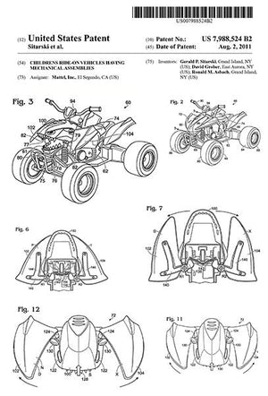 2011 - Childrens Ride-on Vehicles - G. Sitarski - Patent Art Magnet