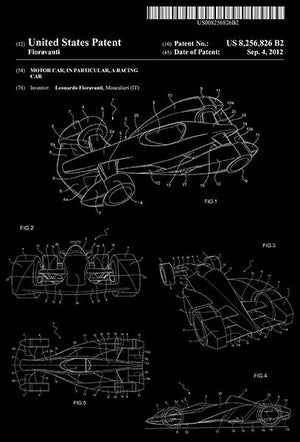 2012 - Motor Car - Racing Car - L. Fioravanti - Patent Art Magnet
