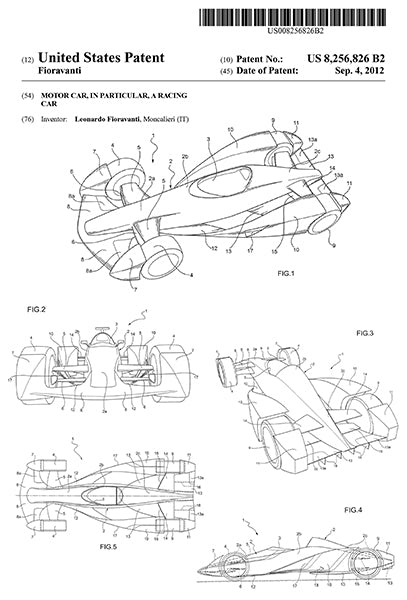 2012 - Motor Car - Racing Car - L. Fioravanti - Patent Art Poster