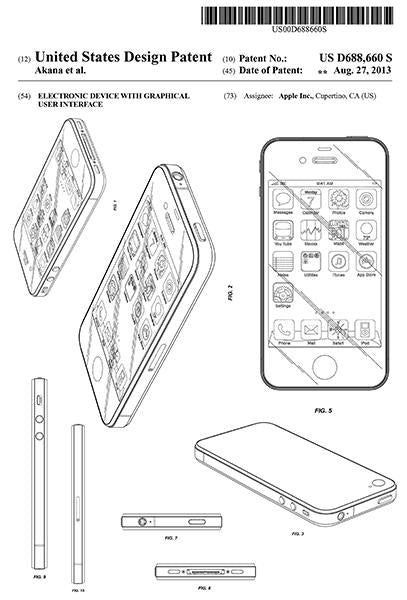 2013 - Apple iPhone - Electronic Device With Graphical User Interface - Patent Art Mug