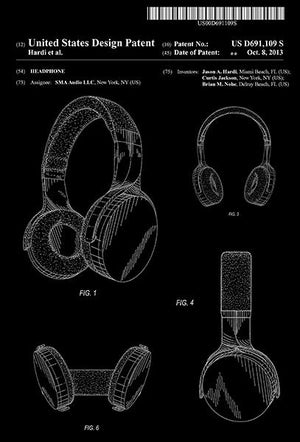 2013 - Headphone - SMA Audio - J. A. Hardi - Patent Art Magnet