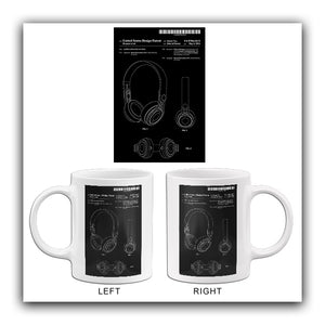 2014 - Beats Headphone - Audio Listening System - R. Brunner - Patent Art Mug