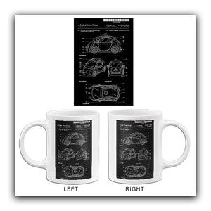 2015 - Google Waymo Self-Driving Car - D. T. Lu - Patent Art Mug