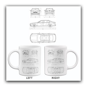 2017 BMW M760 i xDrive - Blueprint Mug