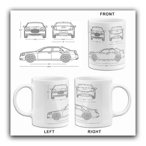 2017 Chrysler 300C - Blueprint Mug