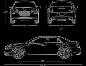 2017 Chrysler 300C - Blueprint Magnet