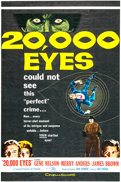 20,000 Eyes - 1961 - Movie Poster