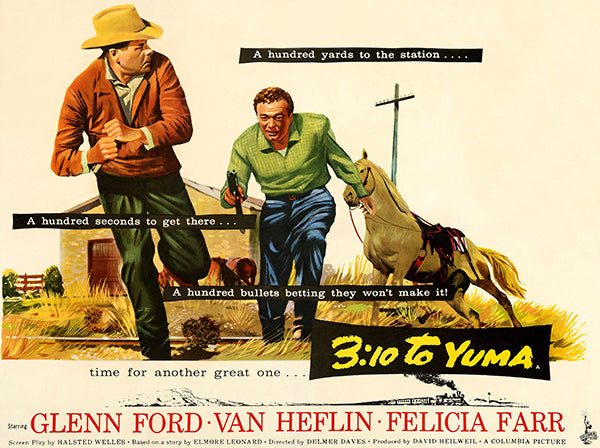 3:10 To Yuma - 1957 - Movie Poster