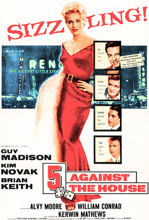 5 Against The House - 1955 - Movie Poster