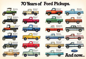 70 Years Of Ford Pickups - 1917-1986 - Promotional Advertising Magnet