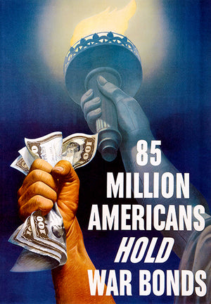 85 Million Americans - Bonds - 1945 - World War II - Propaganda Poster