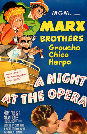 A Night At The Opera - Marx Brothers - 1935 - Movie Poster