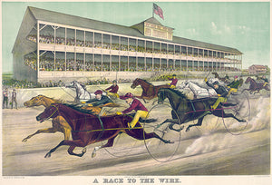 A Race To The Wire - 1891 - Horse Racing Poster