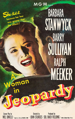 A Woman In Jeopardy - 1953 - Movie Poster Magnet