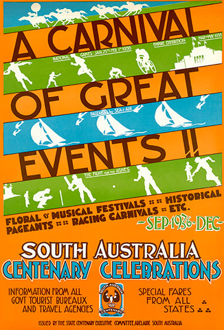 A Carnival Of Great Events! South Australia - 1936 - Travel Poster