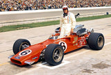 A J Foyt - Indy 500 - Sheraton Thompson Coyote - 1969 - Photo Magnet