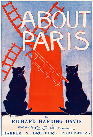 About Paris - 1890's - Book Cover Poster