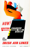 Aer Lingus - Fly Irish Air Lines - 1958 - Travel Poster