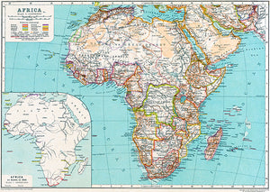 Africa - 1850 - Map Poster