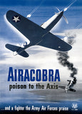 Airacobra Poison To The Axis - Army Air Forces - 1943 - World War II - Propaganda Poster