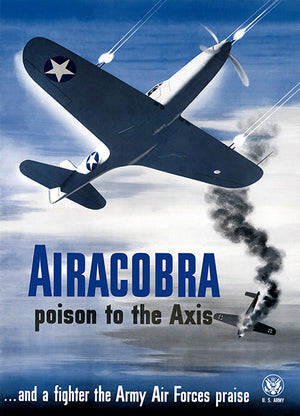 Airacobra Poison To The Axis - Army Air Forces - 1943 - World War II - Propaganda Mug
