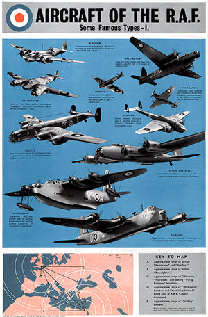 Aircraft Of The RAF Some Famous Types I - 1940's - Propaganda Magnet