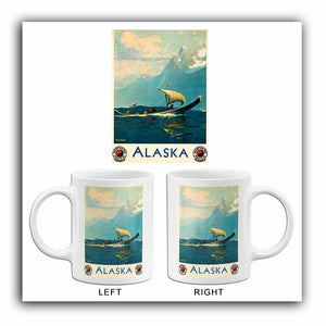 Alaska - Northern Pacific Railway - 1924 - Travel Poster Mug